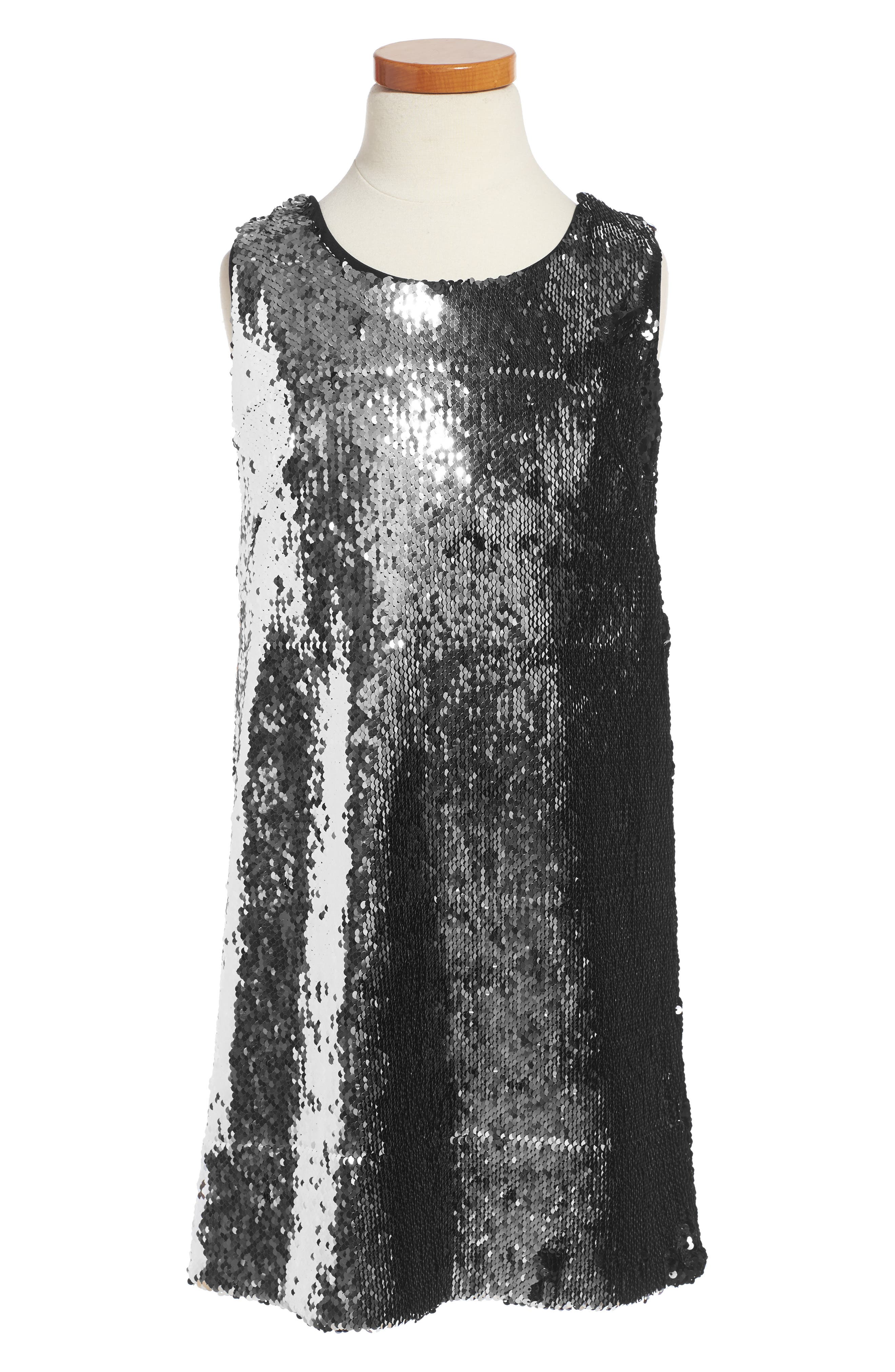Milly Minis Kat Sequin Shift Dress (Big Girls)