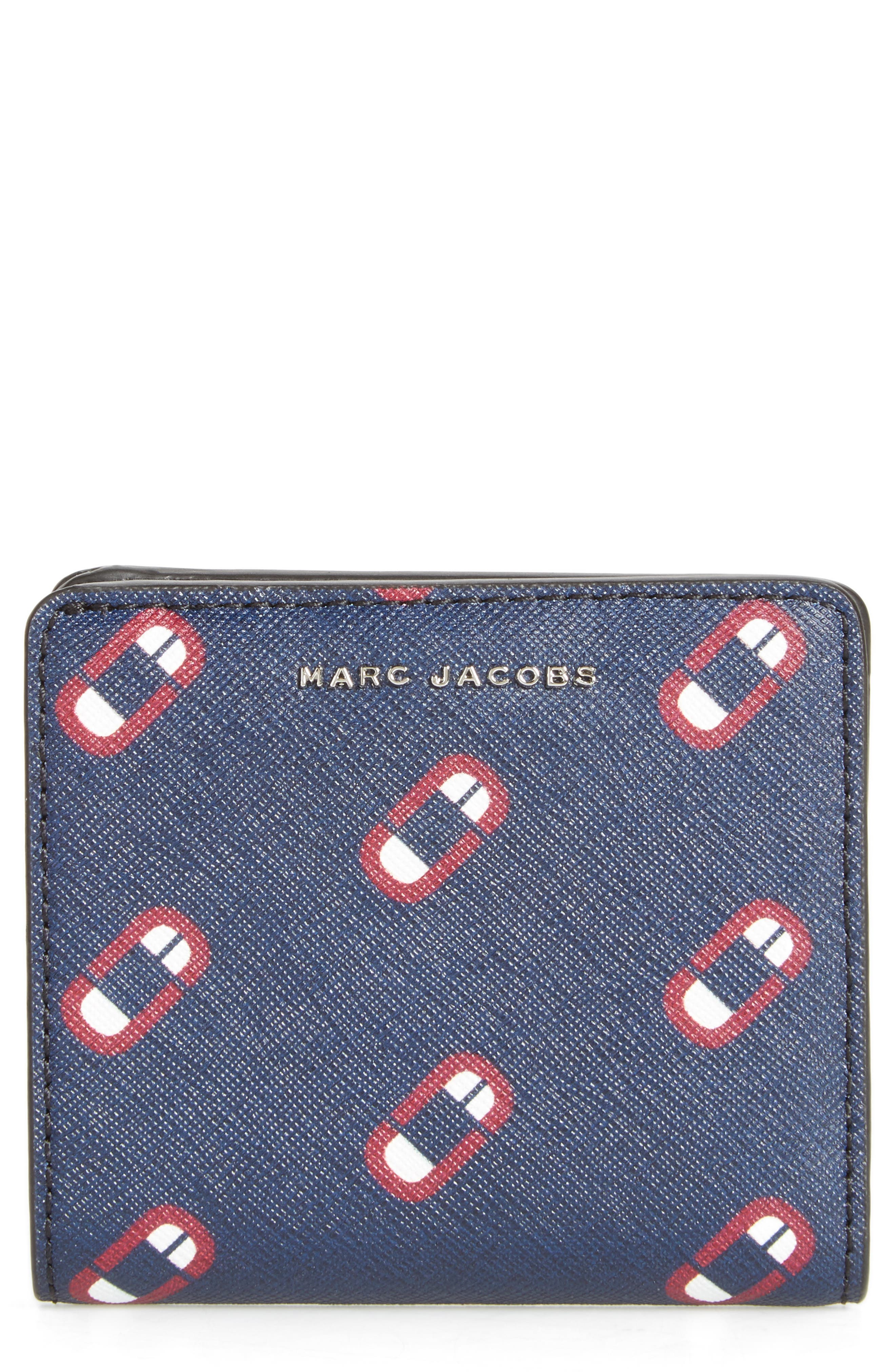 MARC JACOBS Scream Saffiano Leather Wallet