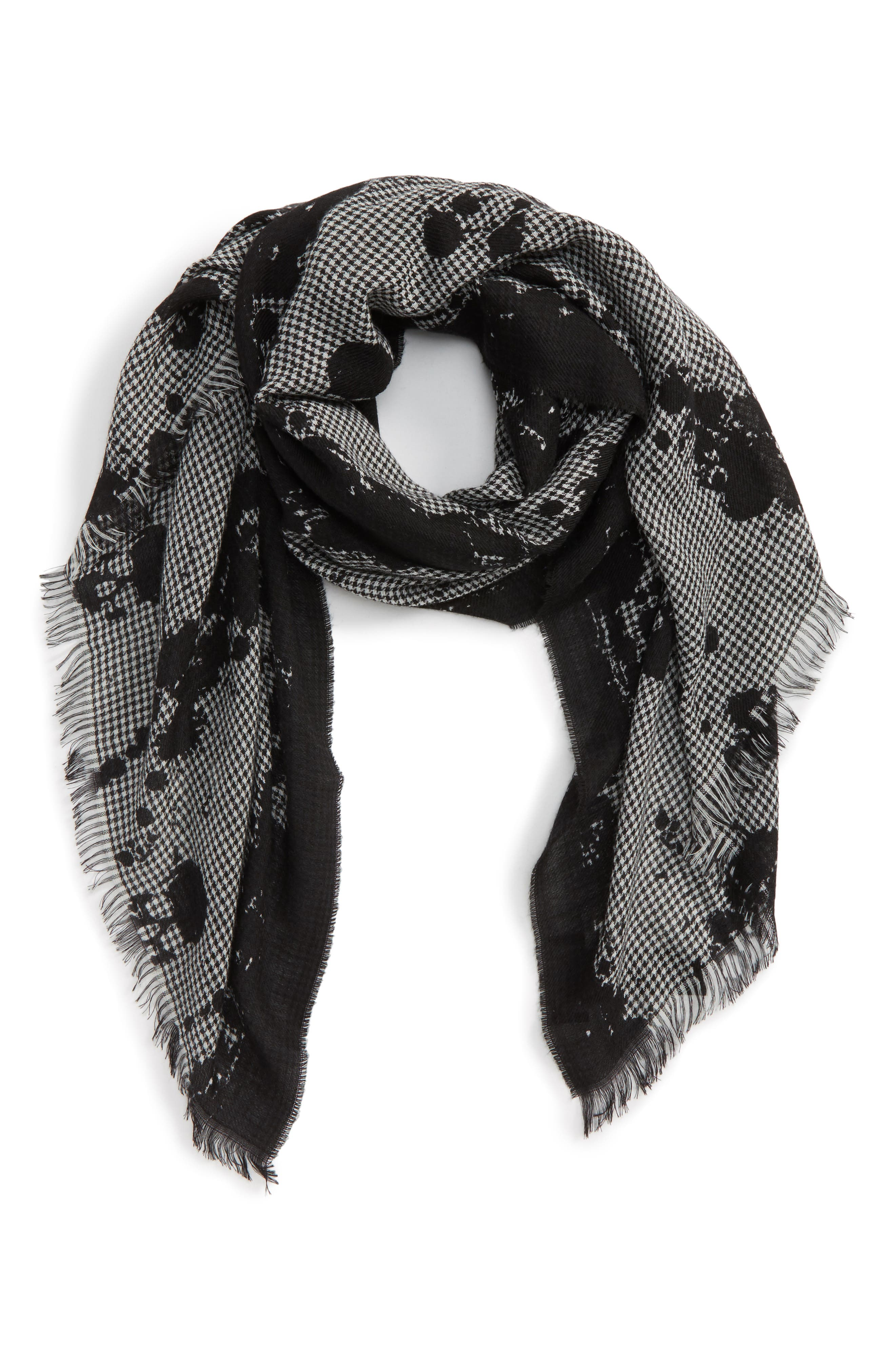The Kooples Houndstooth Wool Blend Scarf