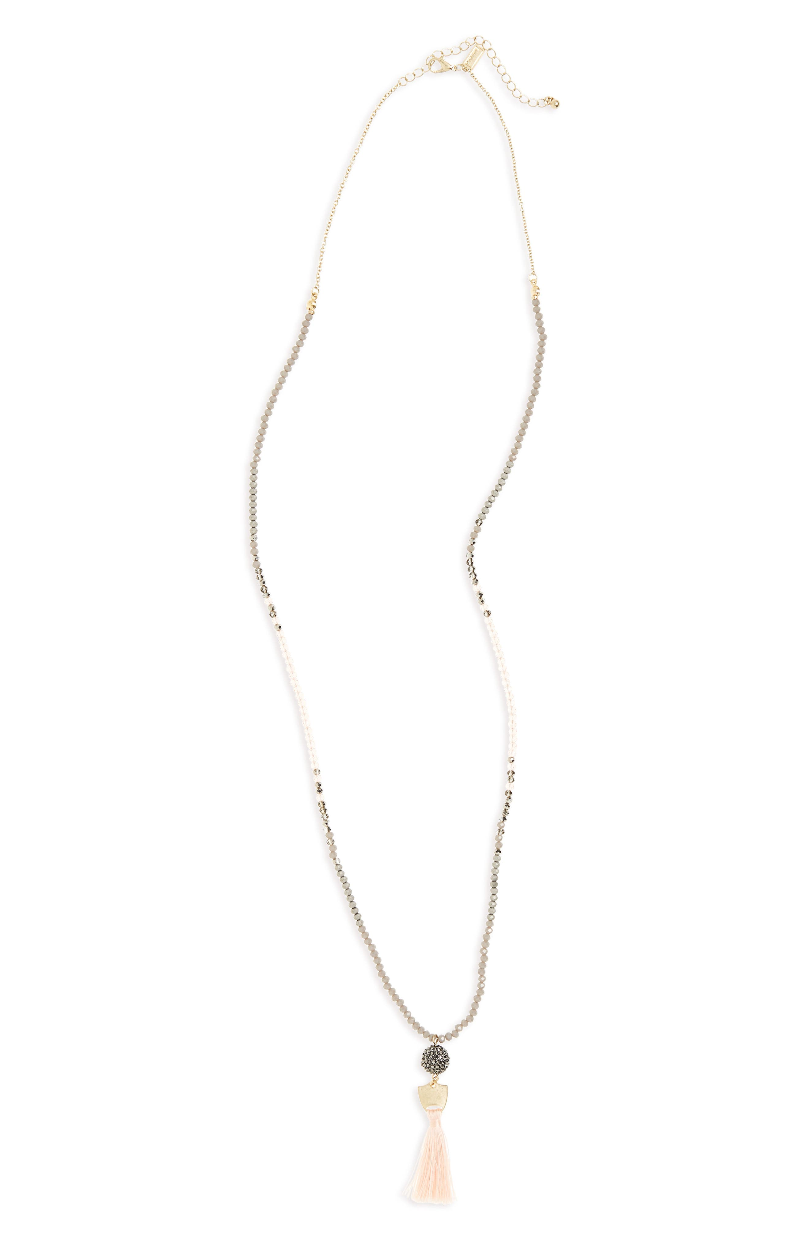 Canvas Long Beaded Necklace