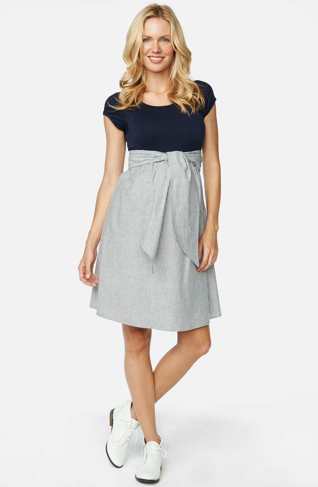 Alternate Image 1 Selected - Maternal America Scoop Neck Maternity Dress