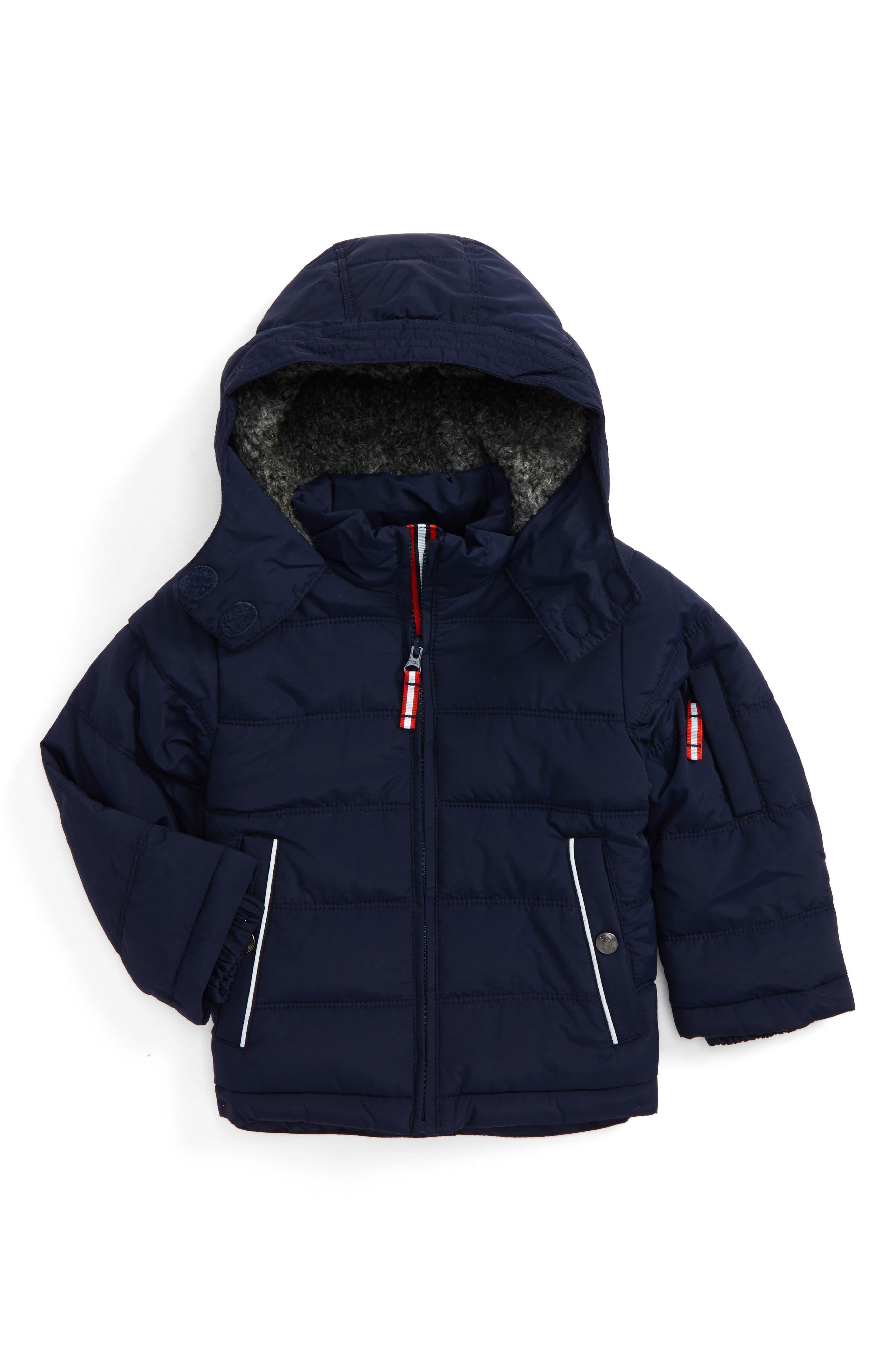 Mini Boden Hooded Jacket (Toddler Boys, Little Boys & Big Boys)
