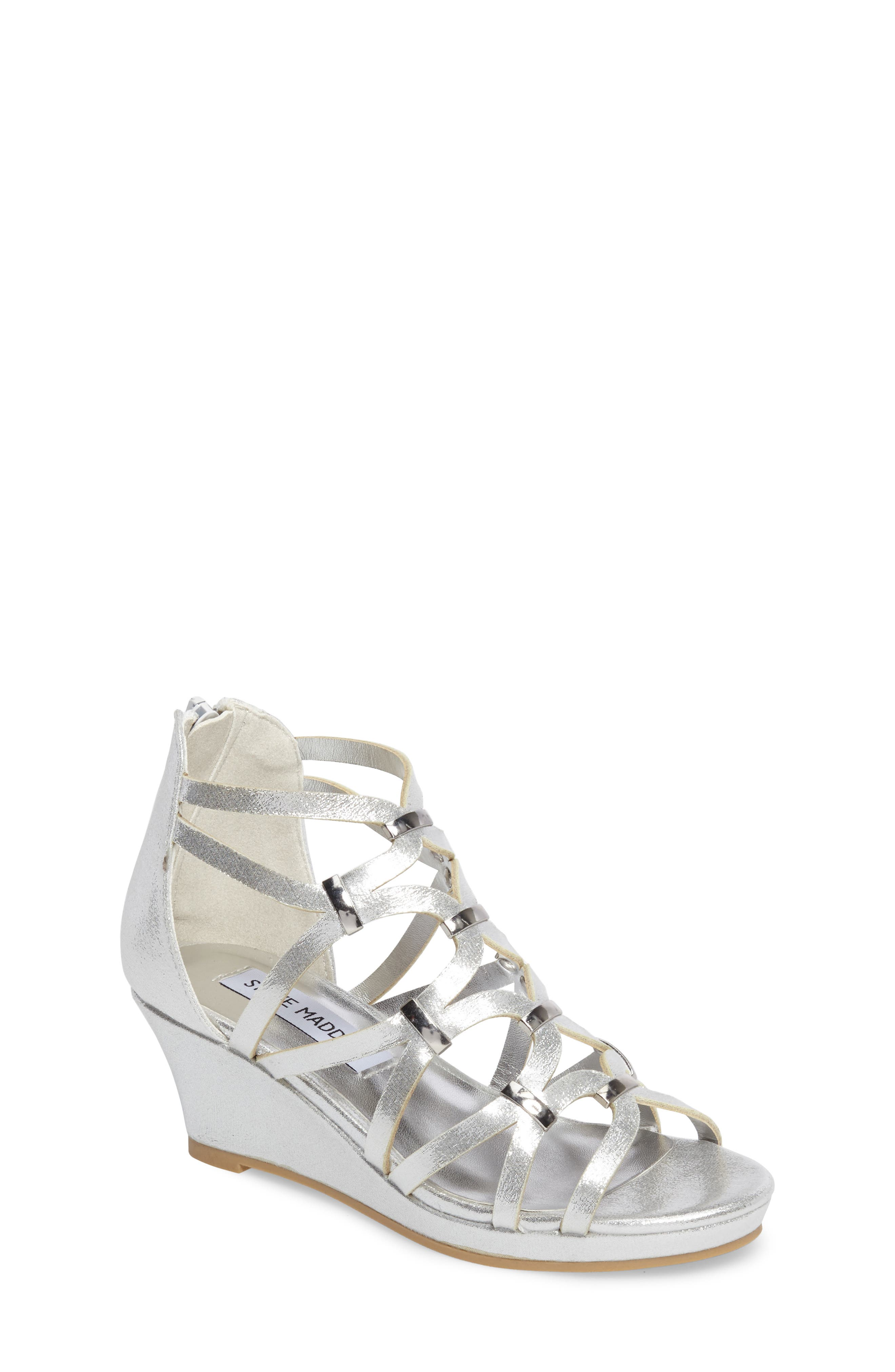 Steve Madden Jcastlew Wedge Cage Sandal (Little Kid & Big Kid)