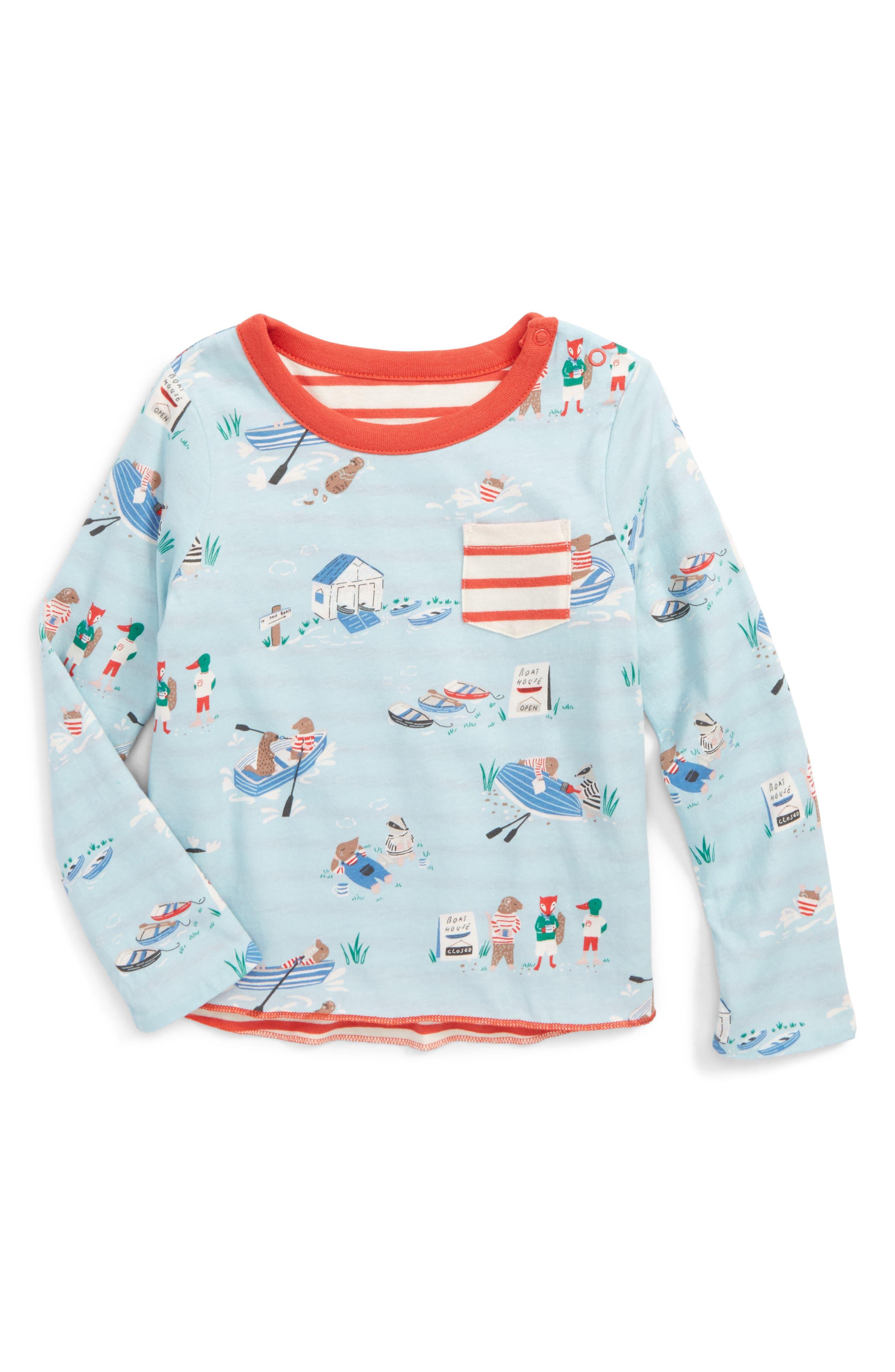 Mini Boden Reversible Print T-Shirt (Baby Boys & Toddler Boys)