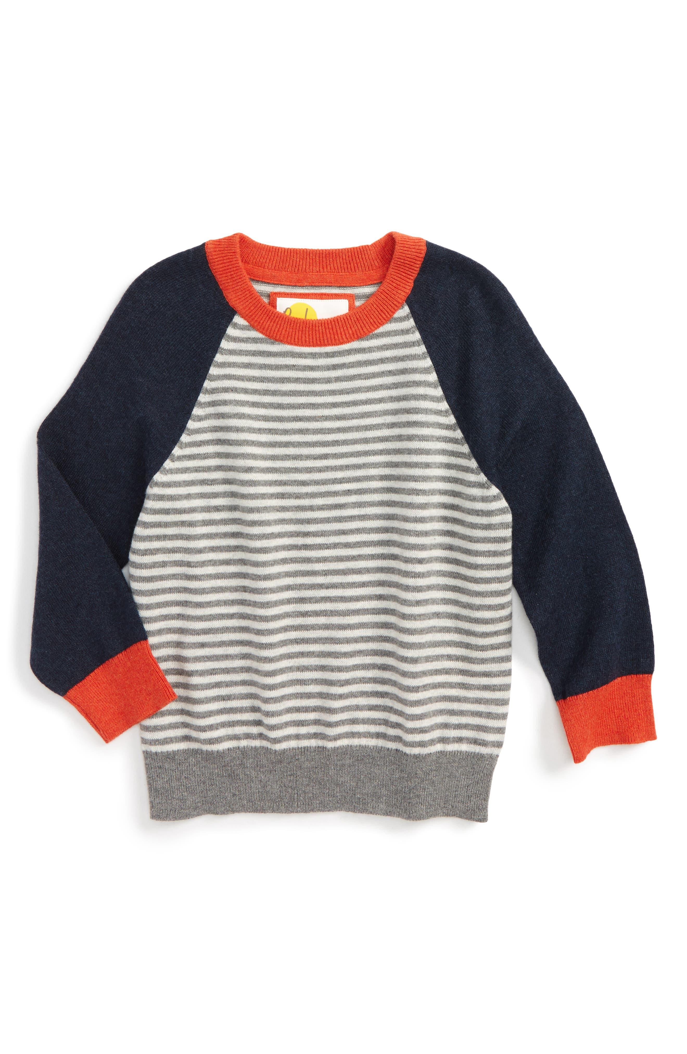 Mini Boden Stripe Sweater (Toddler Boys, Little Boys & Big Boys)