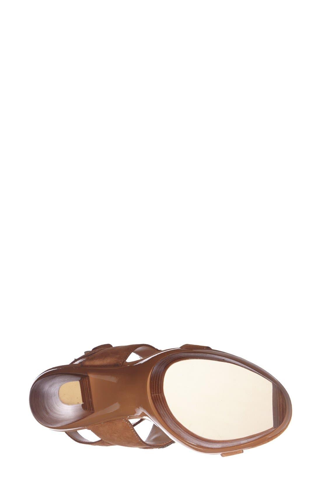 Alternate Image 4  - Pelle Moda 'Cian' Jeweled Leather Ankle Strap Platform Sandal (Women)