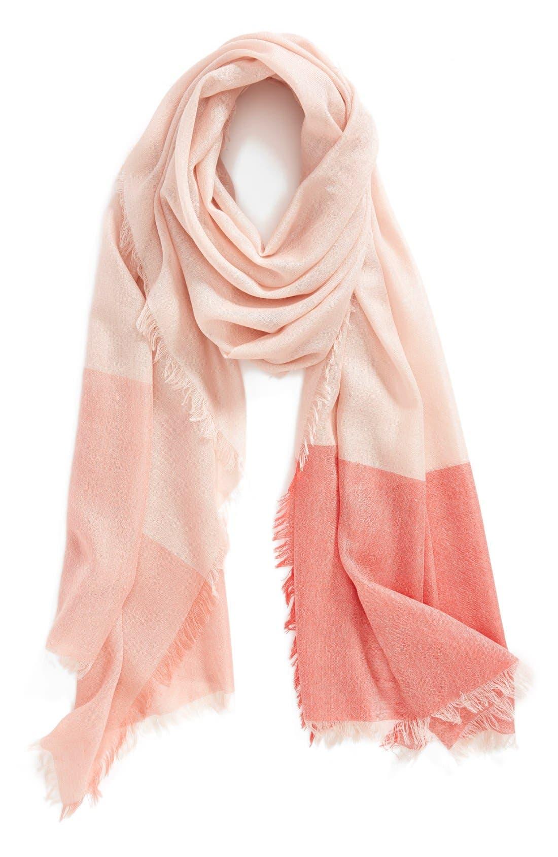 Alternate Image 1 Selected - Nordstrom Colorblock Cashmere & Silk Scarf