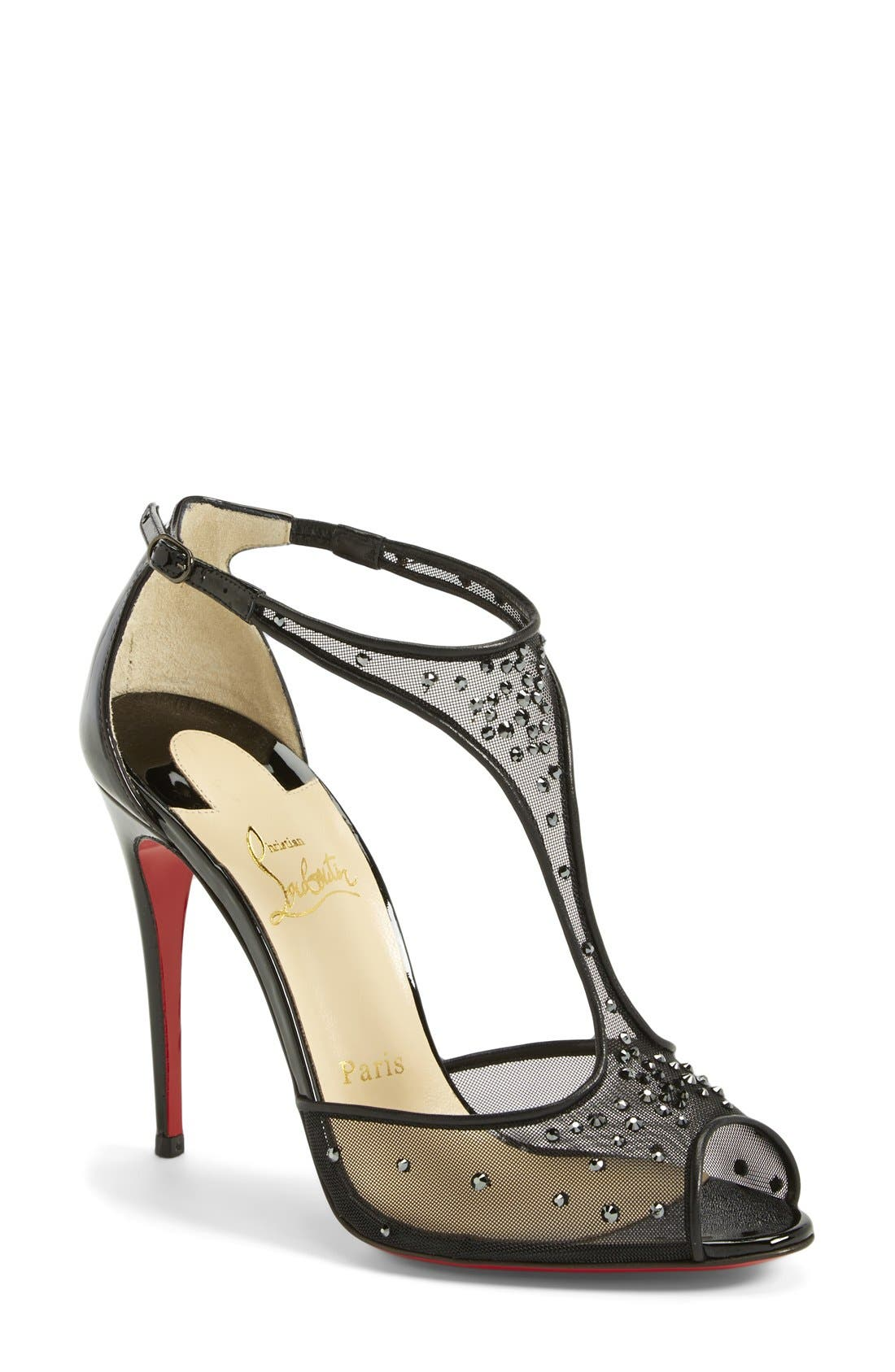 Alternate Image 1 Selected - Christian Louboutin 'Patinana' T-Strap Open Toe Pump
