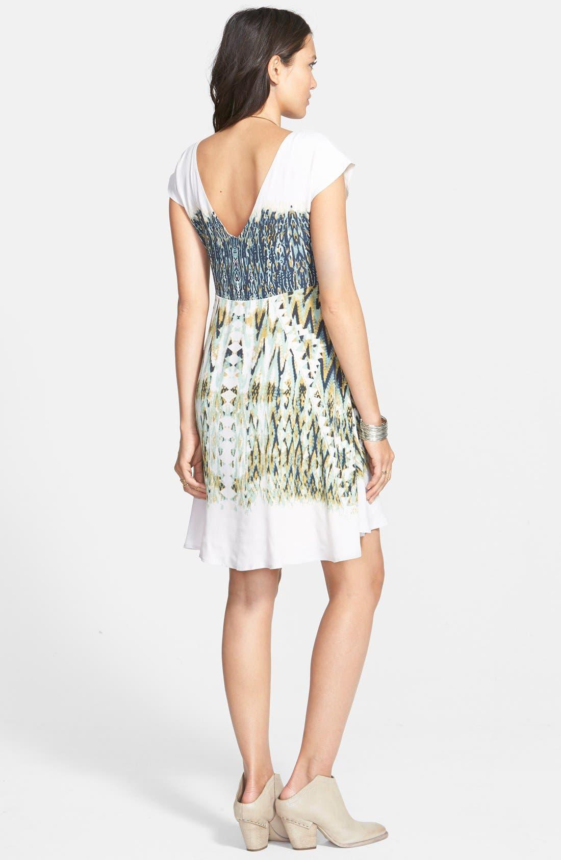 Alternate Image 2  - Free People 'Theodora' Print Babydoll Dress