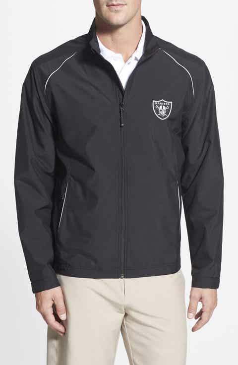Cutter   Buck 'Oakland Raiders - Beacon' WeatherTec Wind   Water Resistant Jacket (Big   Tall)