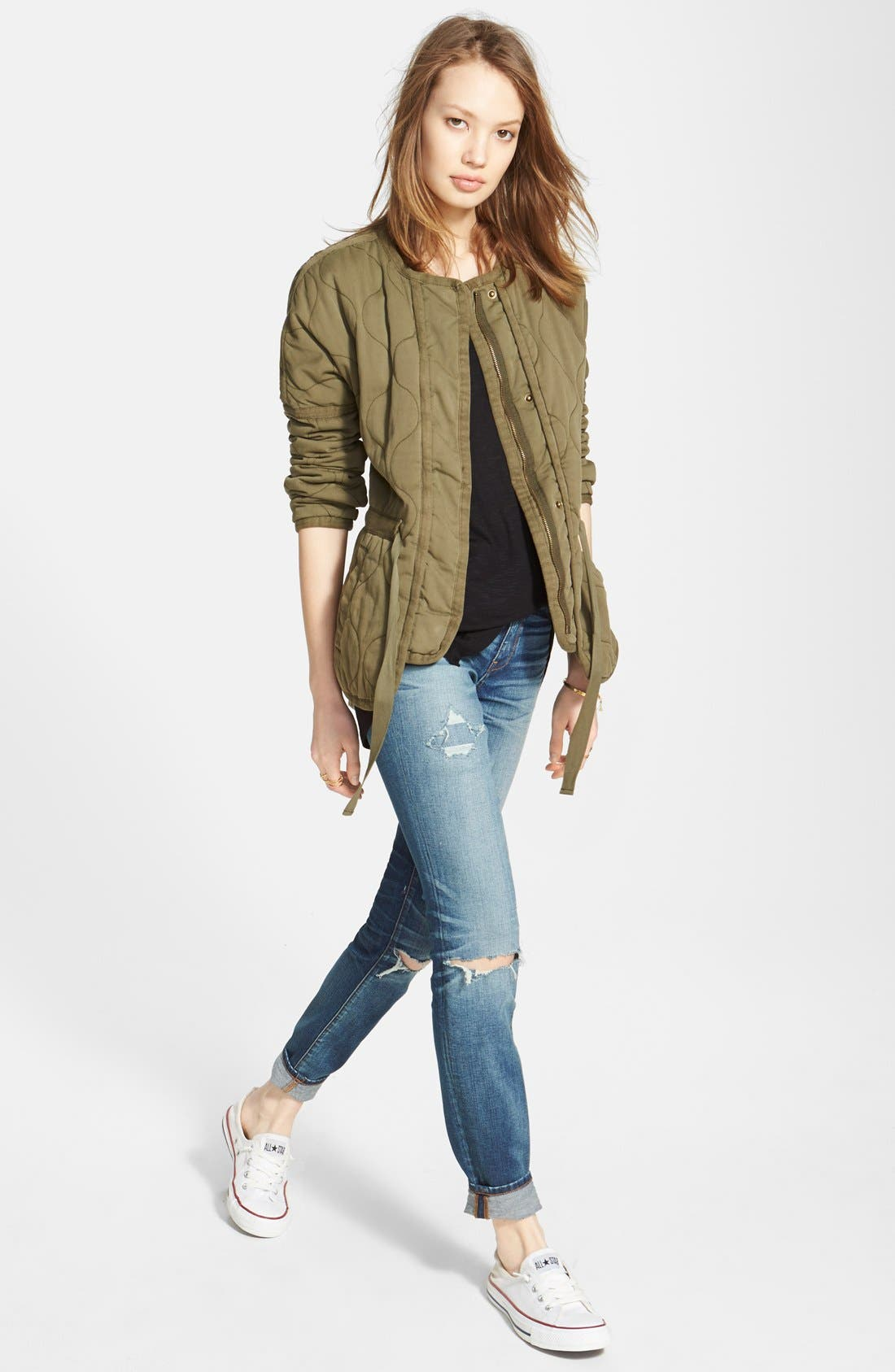 Alternate Image 4  - Madewell Quilted Drawstring Jacket