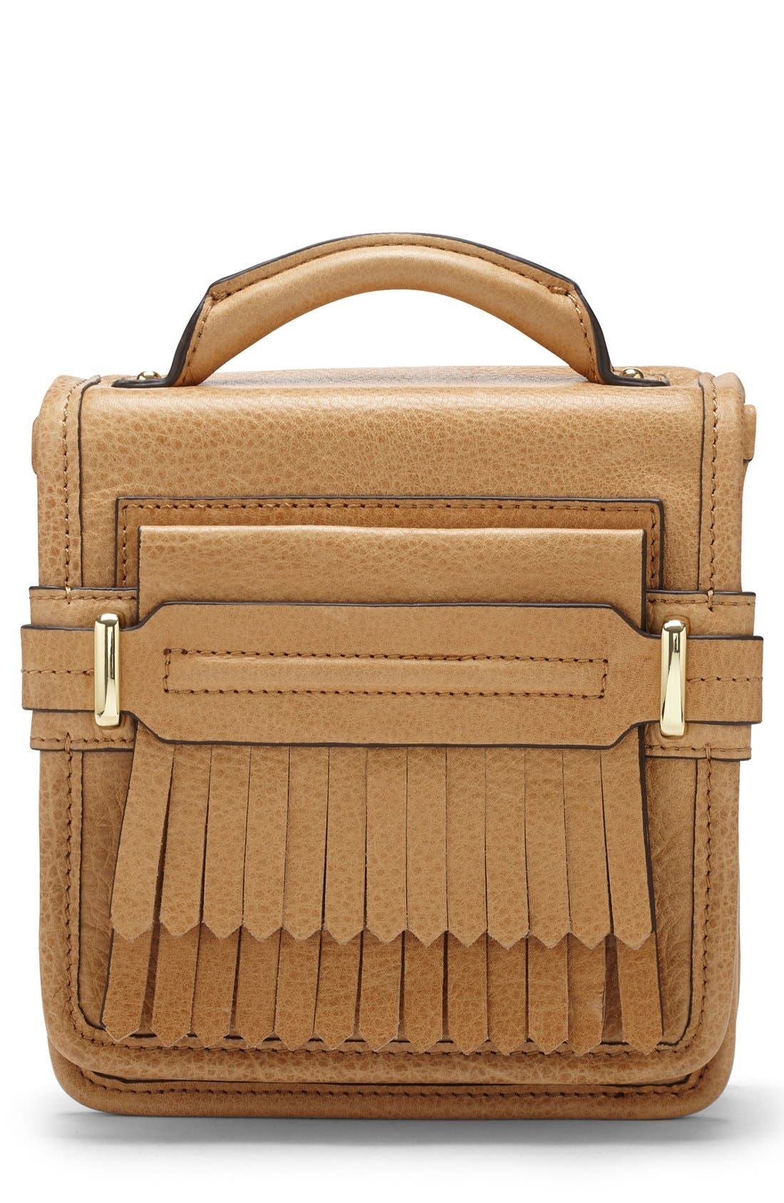 Alternate Image 1 Selected - Vince Camuto 'Sofia - Small' Fringe Leather Crossbody Bag