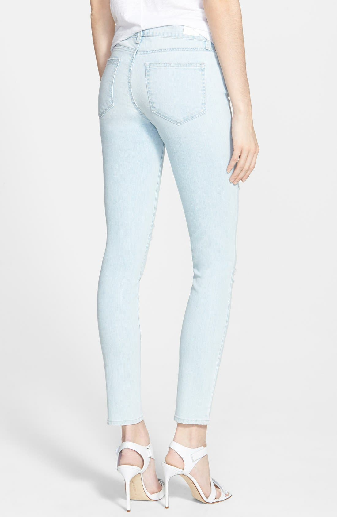 Alternate Image 2  - Paige Denim 'Verdugo' Ultra Skinny Jeans (Powell Destructed)