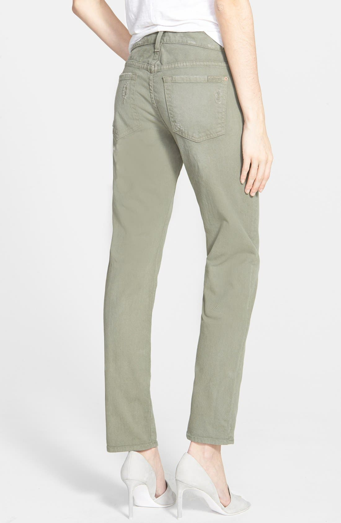 Alternate Image 2  - 7 For All Mankind® Relaxed Skinny Jeans (Fatigue)