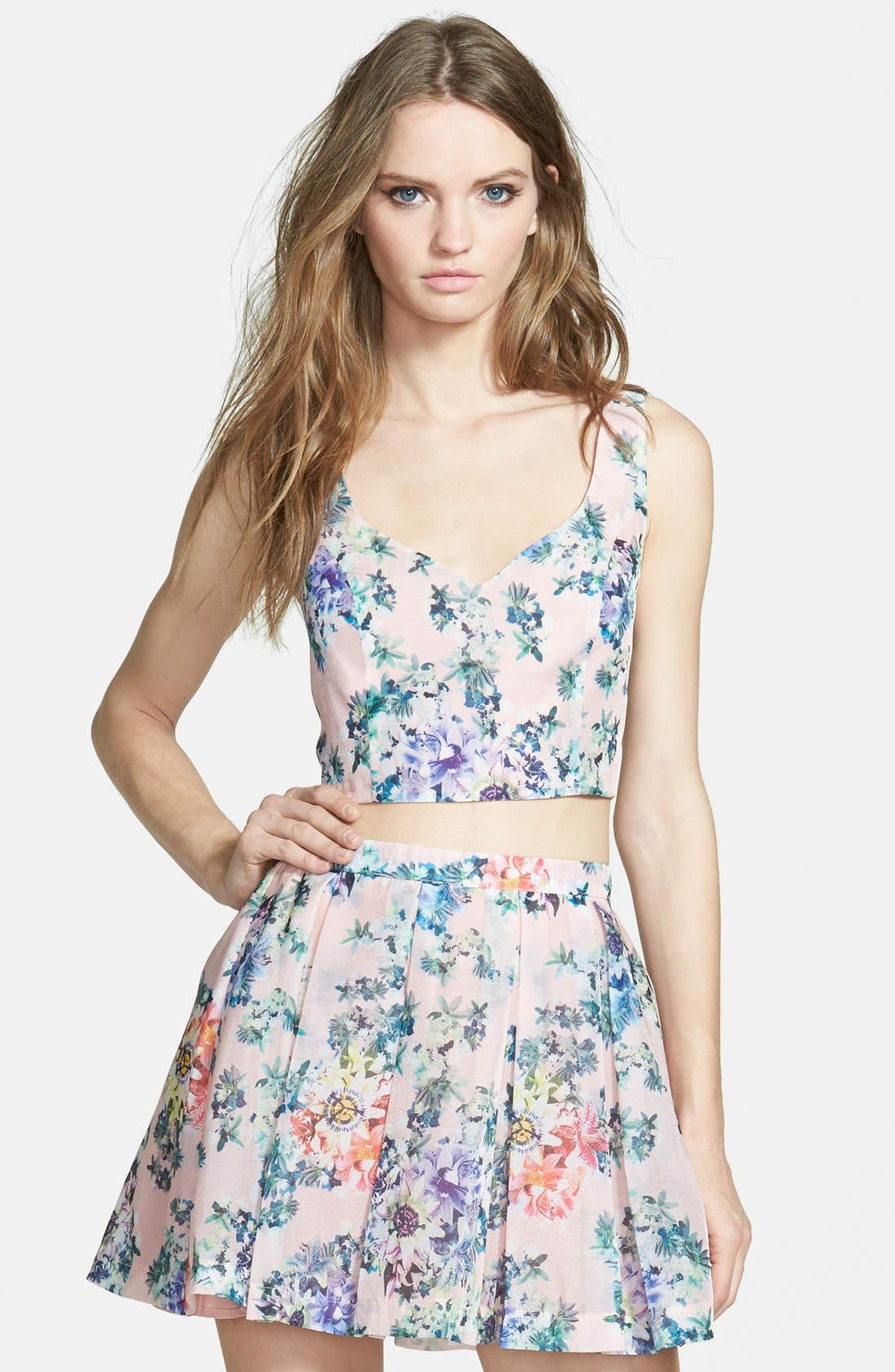 Alternate Image 1 Selected - Lucca Couture Floral Top