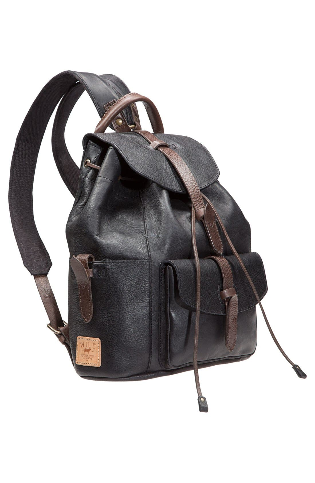 Alternate Image 4  - Will Leather Goods 'Rainier' Leather Backpack
