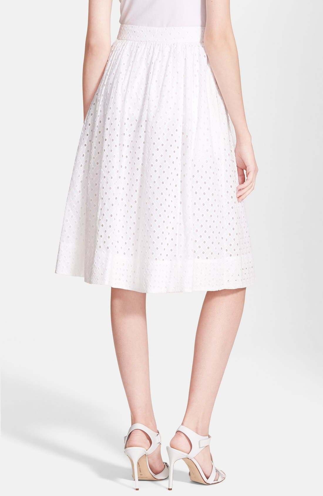 Alternate Image 2  - kate spade new york pleated eyelet a-line skirt
