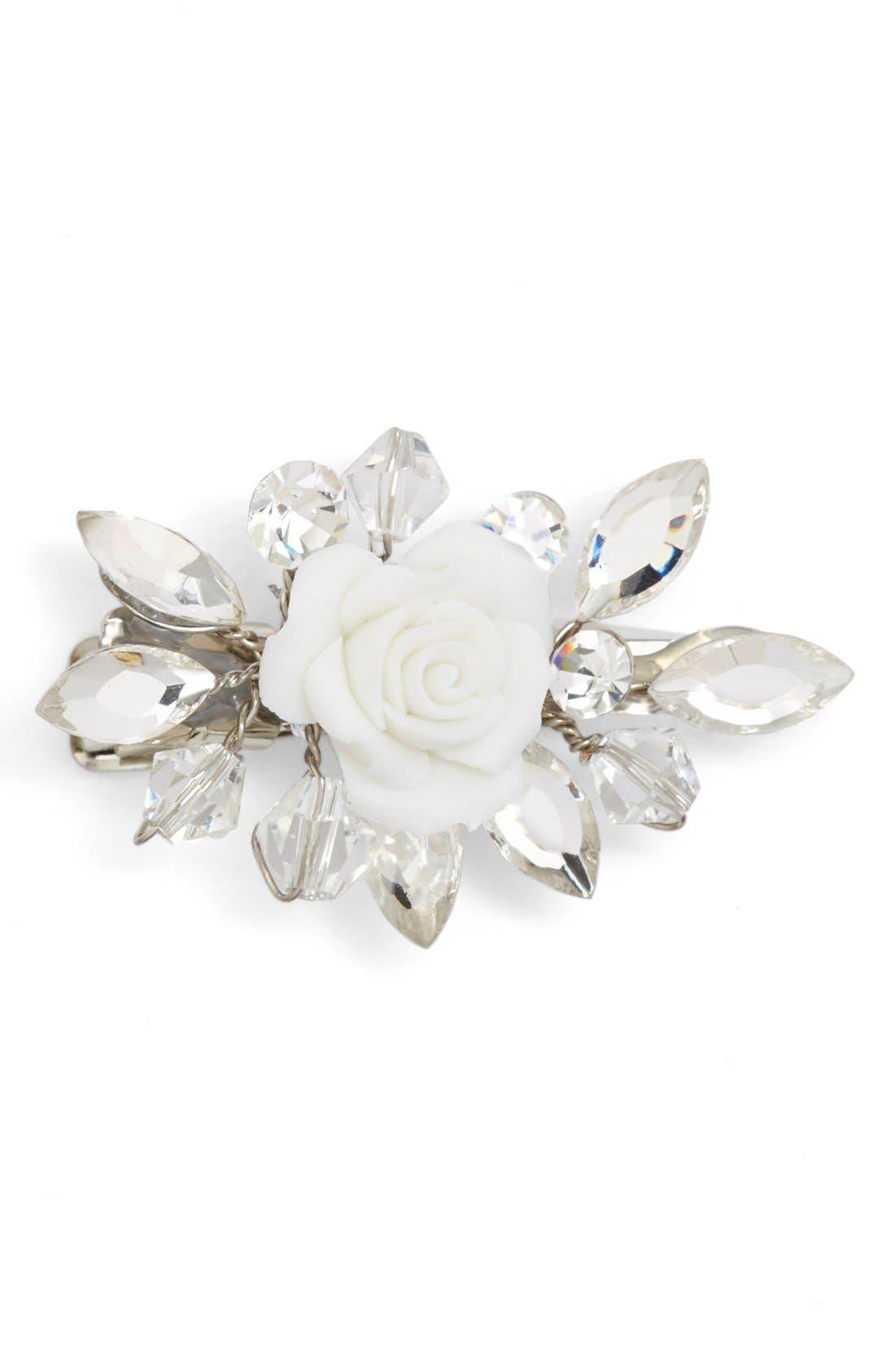 Main Image - Wedding Belles New York Crystal Rosette Hair Clip