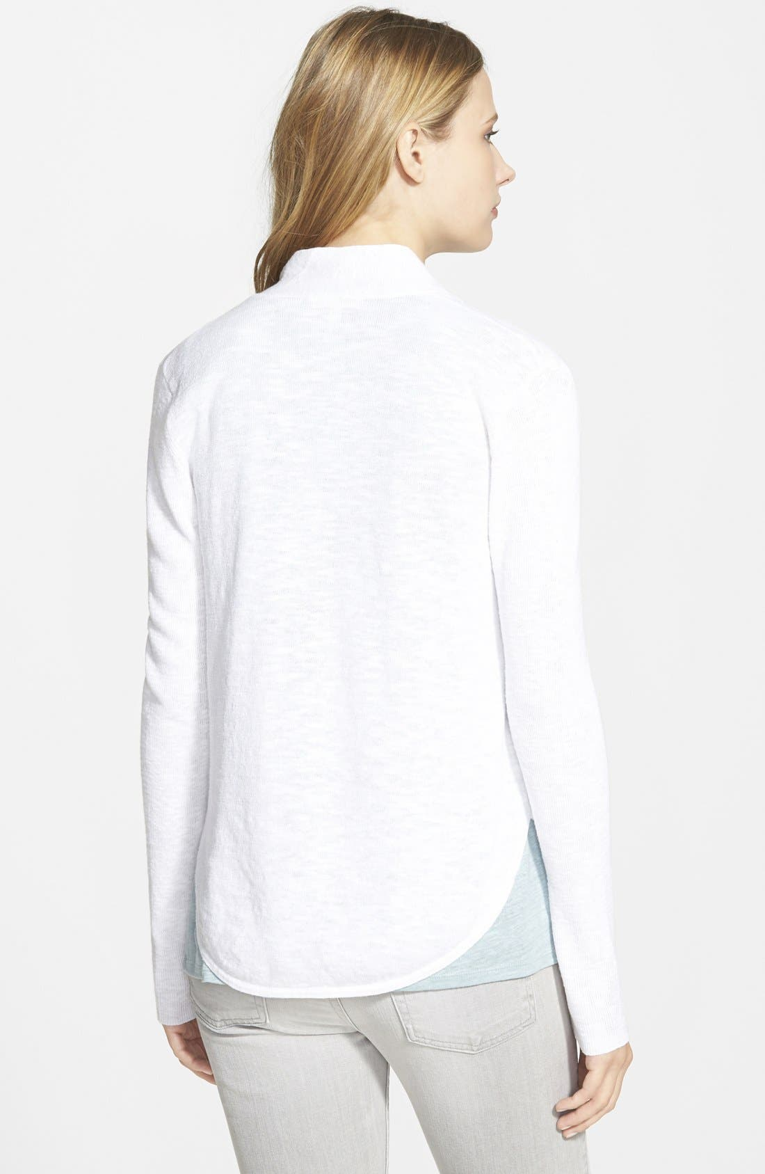 Alternate Image 2  - Eileen Fisher Organic Linen & Cotton Shawl Collar Cardigan (Online Only)