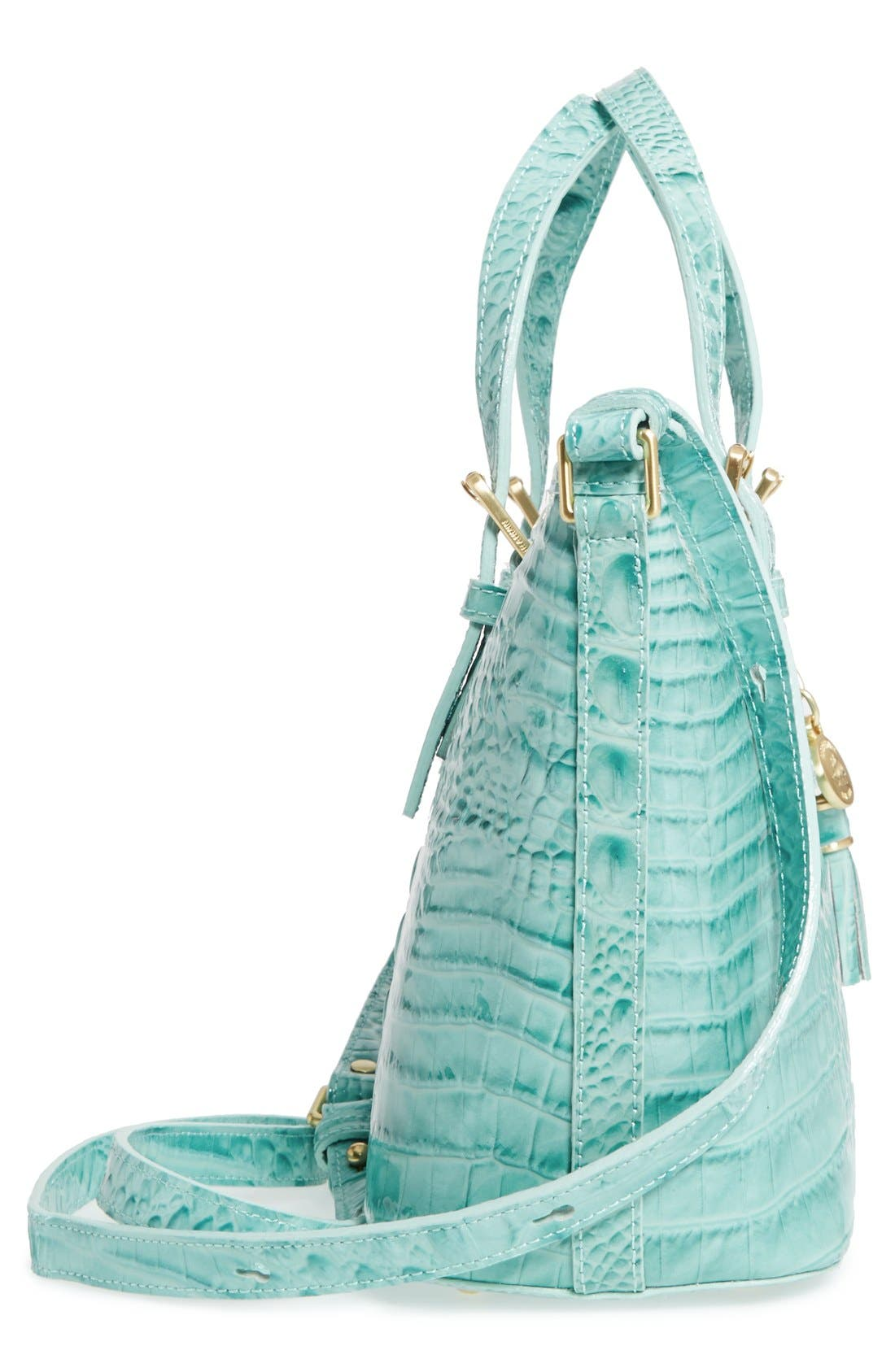 Alternate Image 5  - Brahmin 'Melbourne - Mini Asher' Croc Embossed Leather Tote