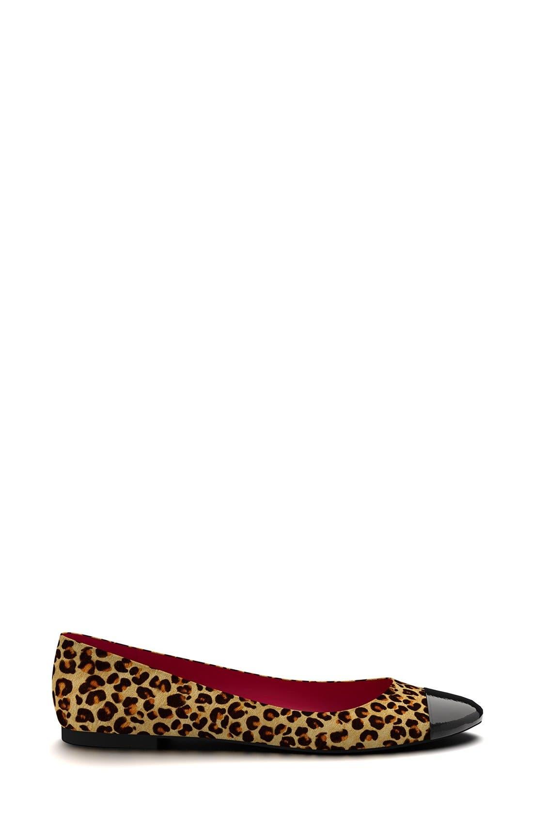 Alternate Image 2  - Shoes of Prey Leopard Genuine Calf Hair Ballet Flat (Women)