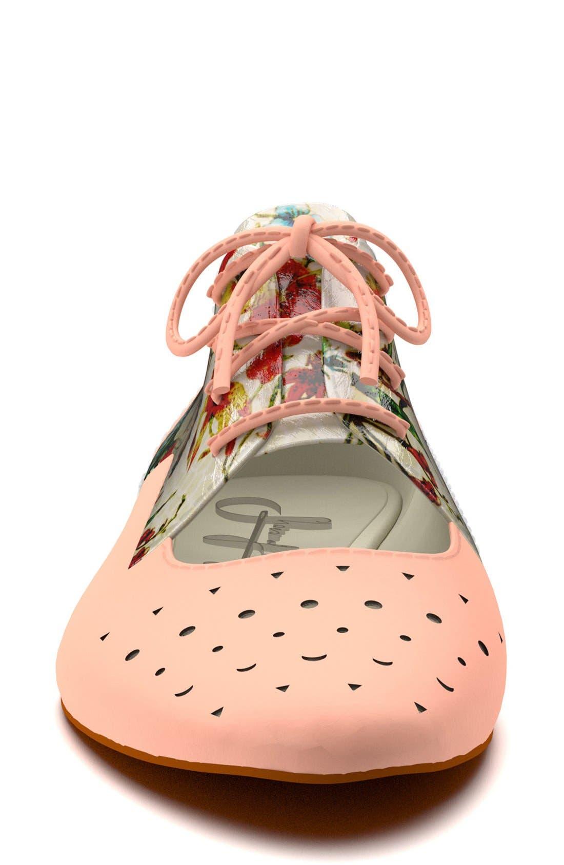 Alternate Image 4  - Shoes of Prey Floral Print Cutout Oxford (Women)