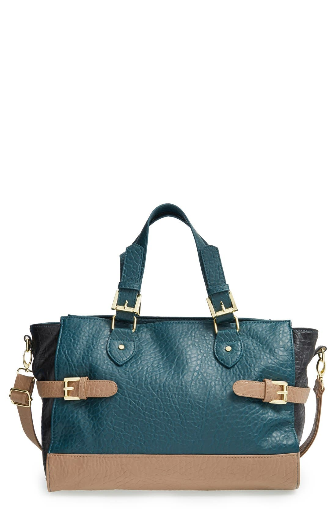 Alternate Image 1 Selected - T-Shirt & Jeans Colorblock Convertible Satchel