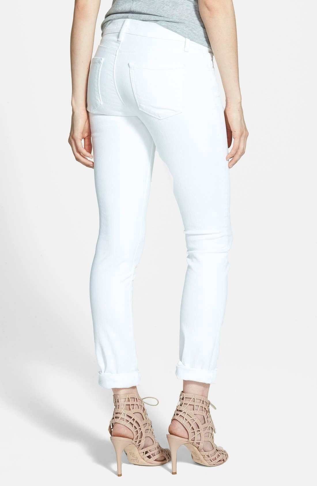Alternate Image 2  - J Brand '811' Mid-Rise Stovepipe Jeans (Blanc)