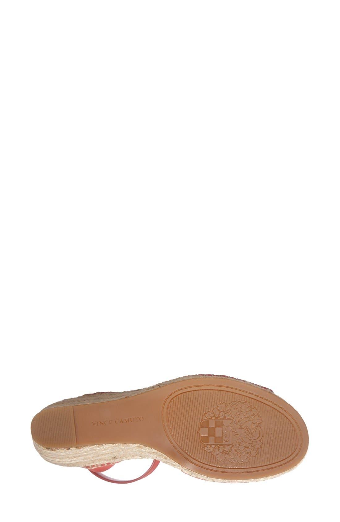 Alternate Image 4  - Vince Camuto 'Tagger' Espadrille Wedge Sandal (Women)