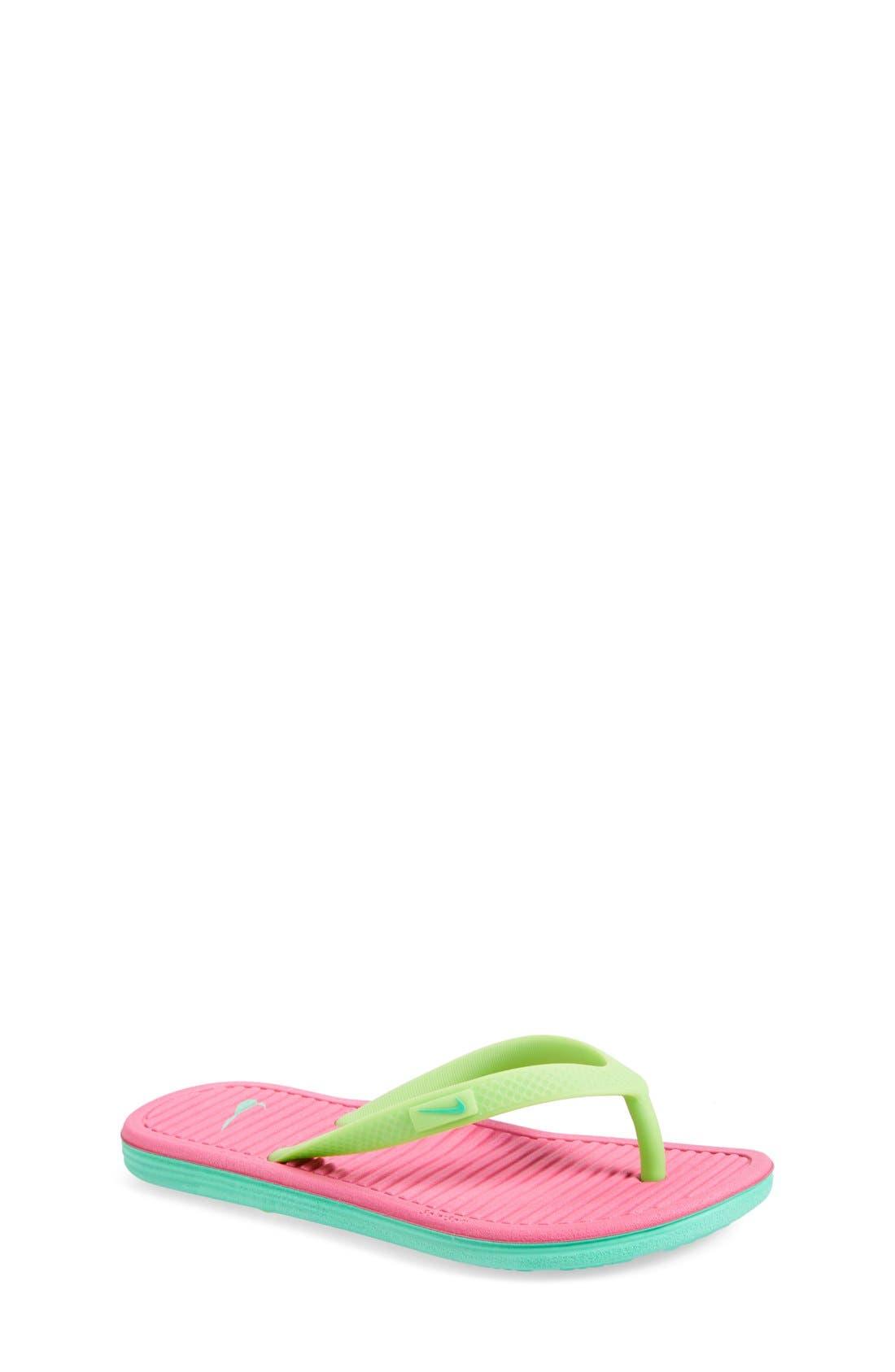 Main Image - Nike 'SolarSoft 2' Sandal (Toddler, Little Kid & Big Kid)
