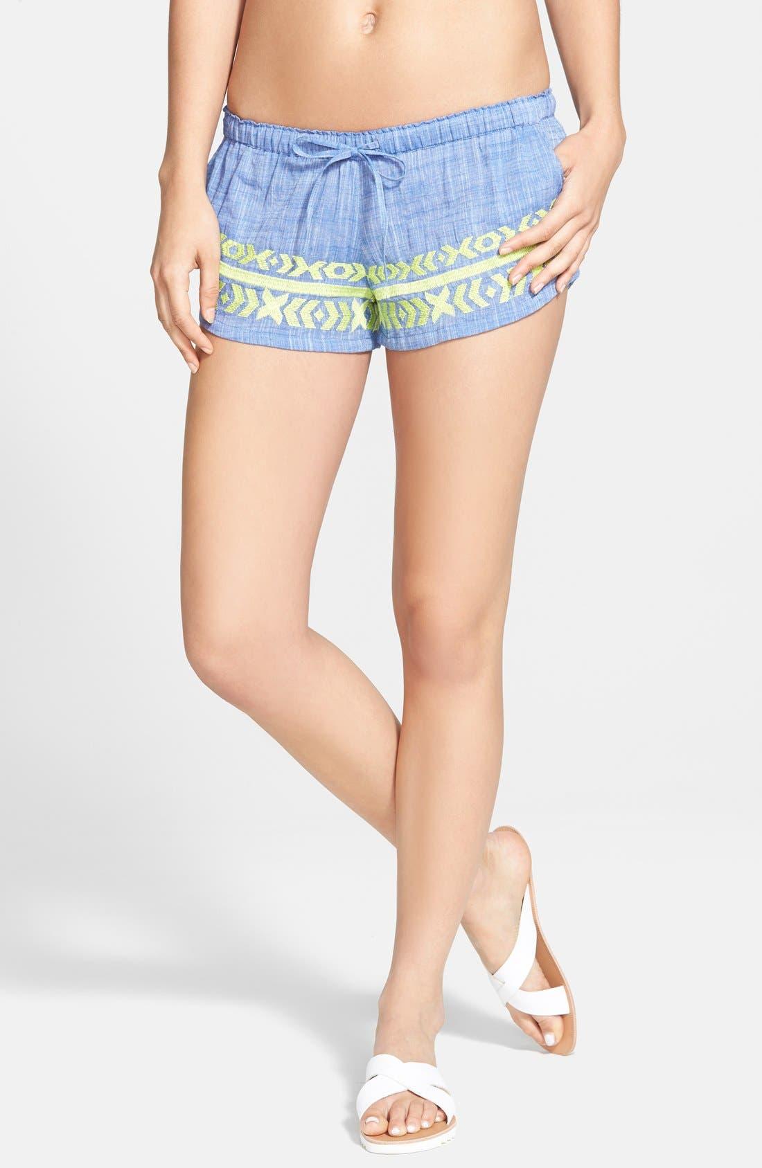 Main Image - Rip Curl 'Marisol' Chambray Shorts (Juniors)