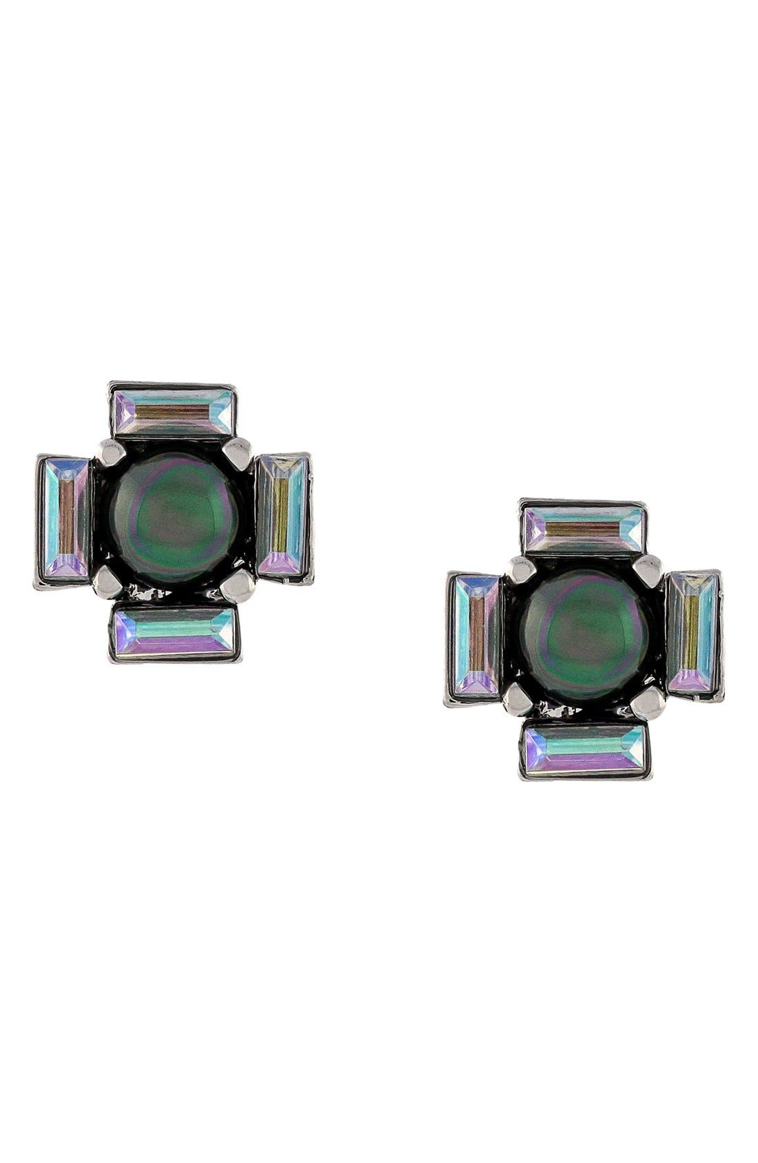 Main Image - Vince Camuto 'Beach Comber' Faux Pearl Stud Earrings