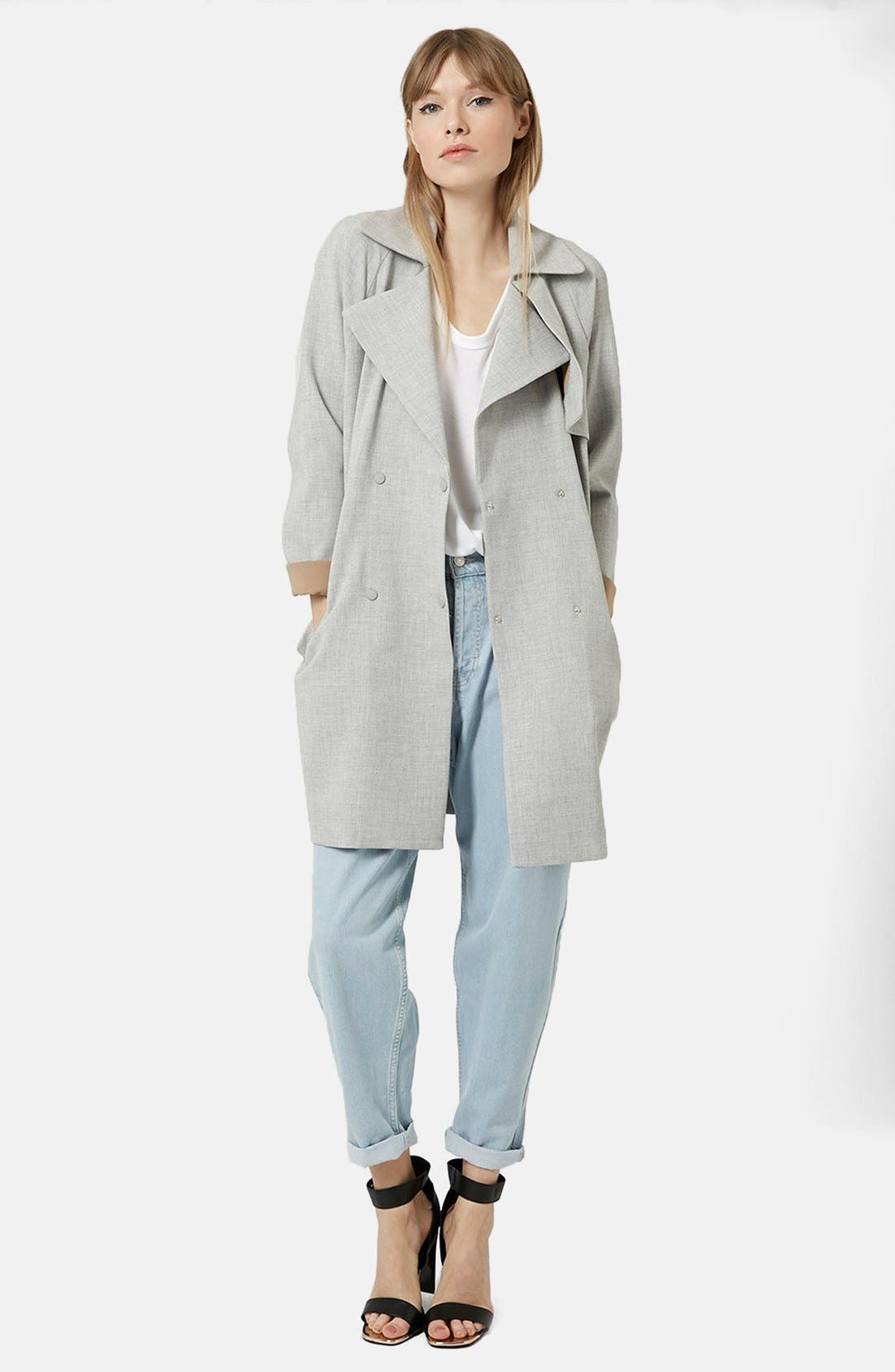 Alternate Image 5  - Topshop Double Breasted Trench Coat