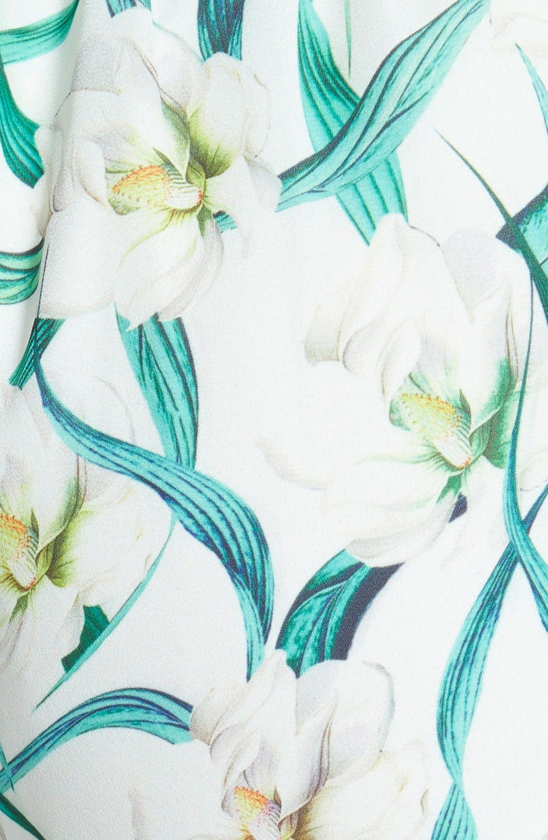 Alternate Image 3  - Missguided Floral Print Pom Shorts