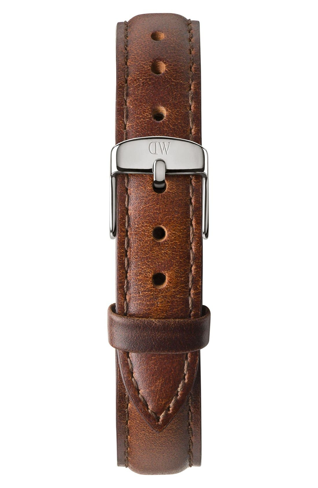 Alternate Image 2  - Daniel Wellington 'Classy St. Mawes' Crystal Index Leather Strap Watch, 26mm