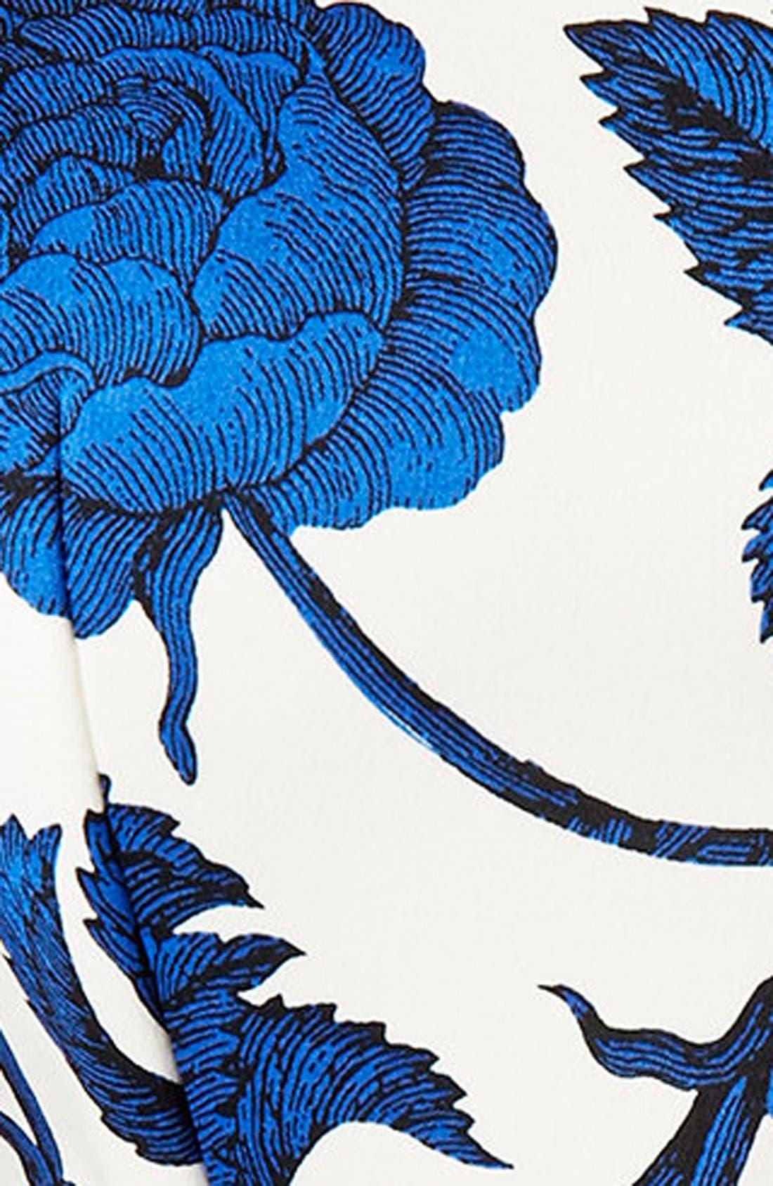 Alternate Image 4  - Topshop Cutout Rose Print Dress
