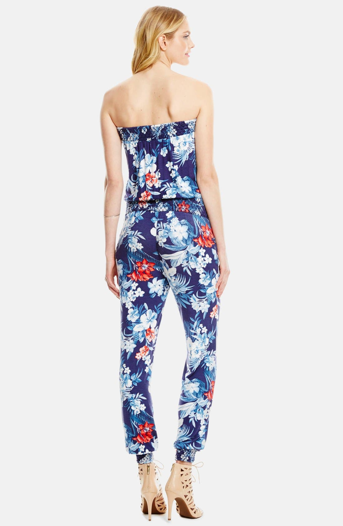 Alternate Image 2  - Jessica Simpson 'Cora' Strapless Jumpsuit
