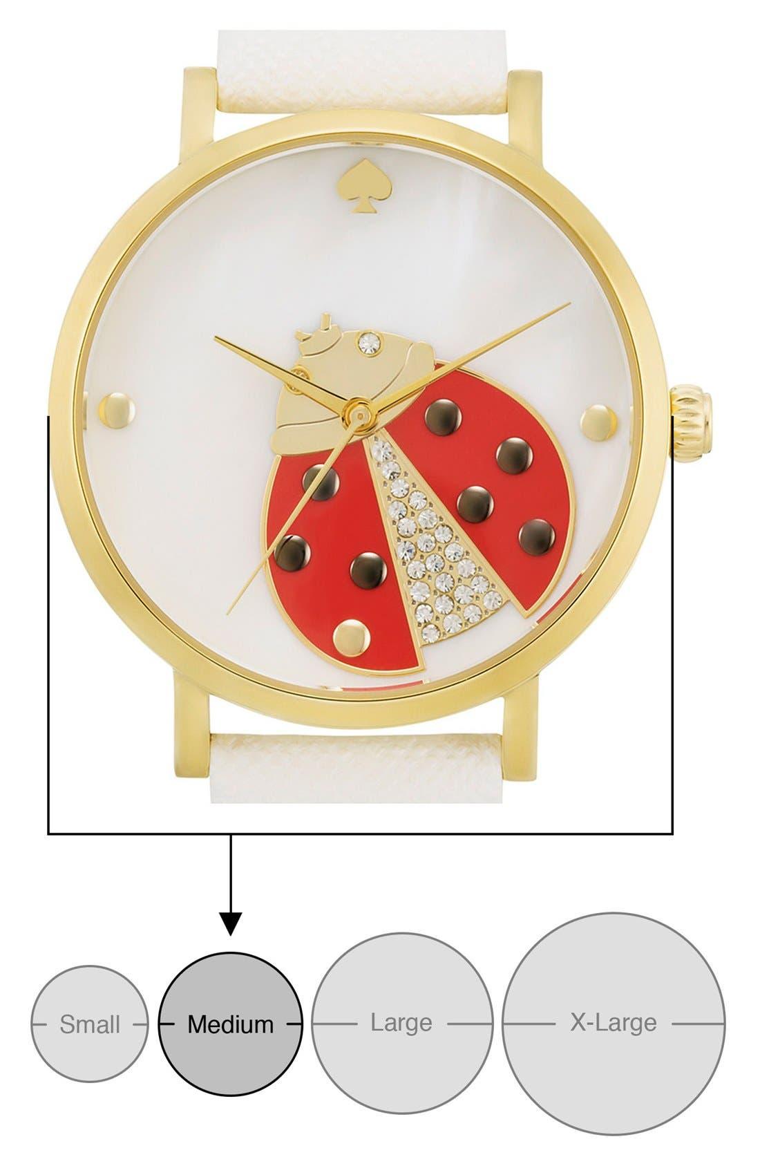 Alternate Image 6  - kate spade new york 'metro' ladybug dial leather strap watch, 34mm