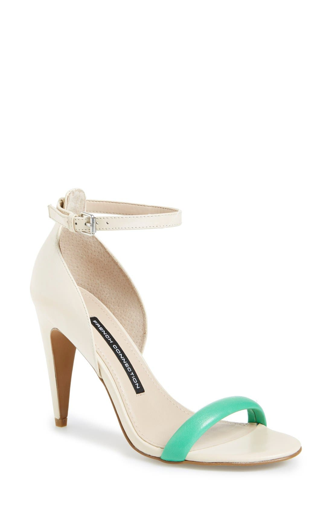 Main Image - French Connection 'Nanette' Ankle Strap Sandal (Women)
