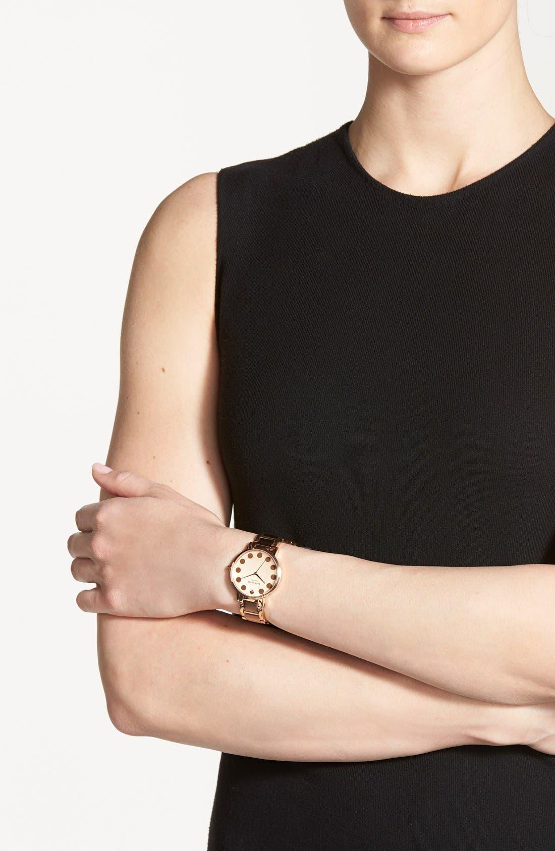 Alternate Image 5  - kate spade new york 'gramercy' dot dial bracelet watch, 34mm