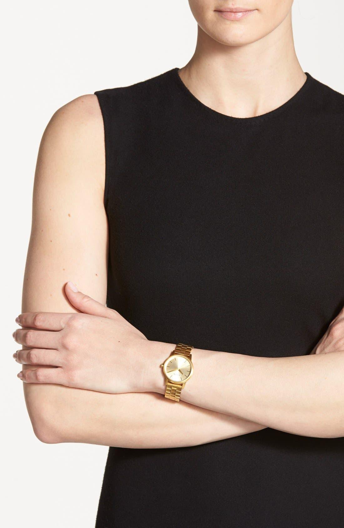 Alternate Image 4  - Nixon 'The Small Kensington' Bracelet Watch, 30mm
