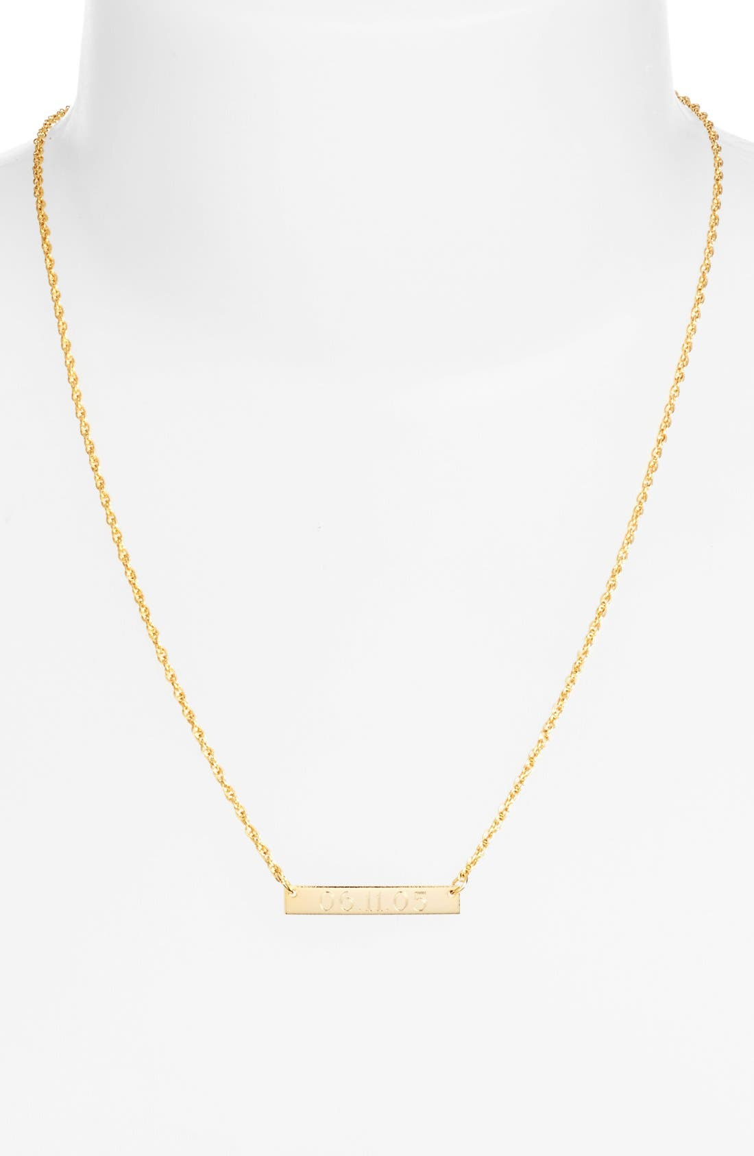 Alternate Image 4  - Moon and Lola 'Block Font' Personalized Bar Pendant Necklace (Online Only)