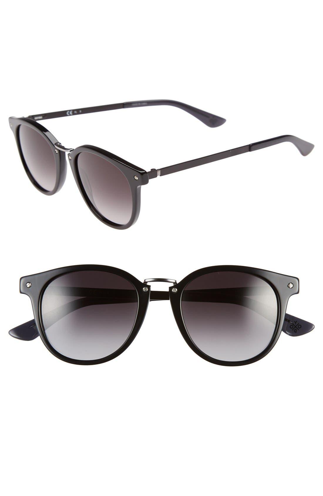 Main Image - Oxydo 49mm Round Metal Accent Sunglasses