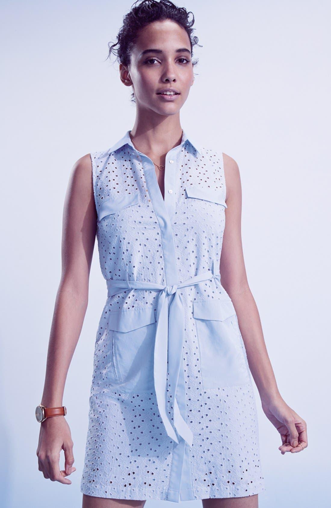 Alternate Image 6  - CeCe by Cynthia Steffe Eyelet Shirtdress (Regular & Petite)