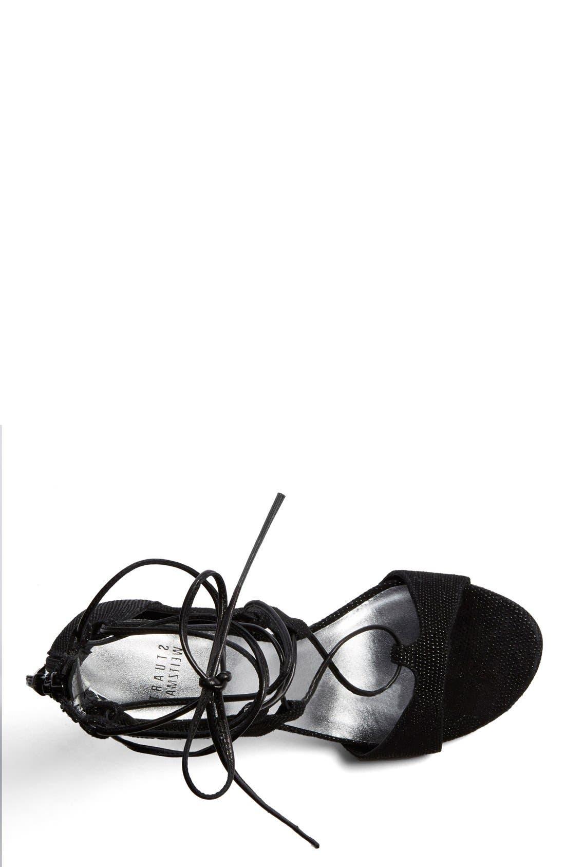 Alternate Image 3  - Stuart Weitzman Leg Wrap High Dress Sandal (Women)