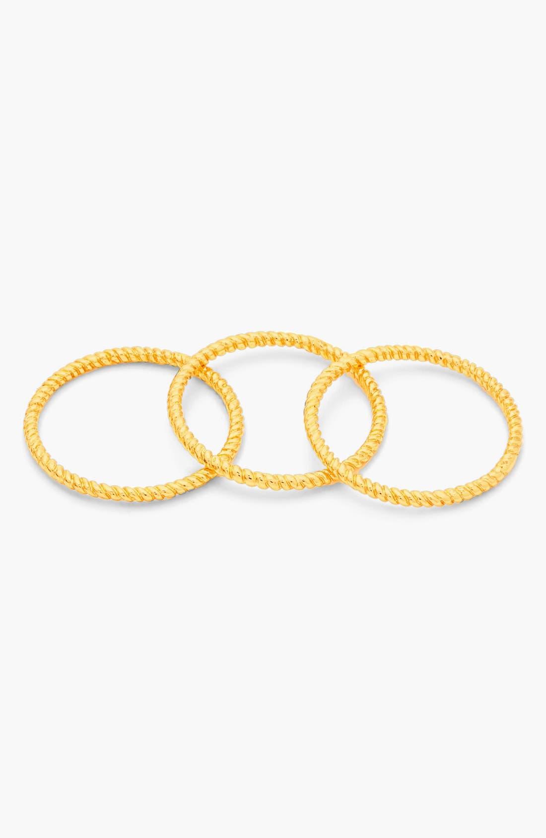 Alternate Image 4  - gorjana Textured Rings (Set of 3)