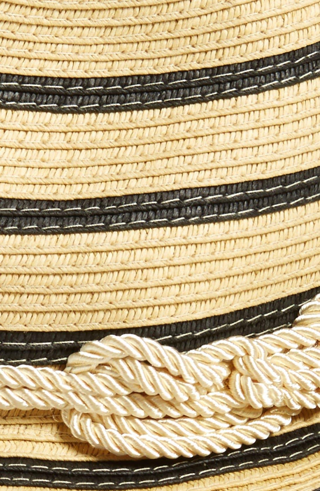 Alternate Image 2  - Sole Society Woven Stripe Fedora
