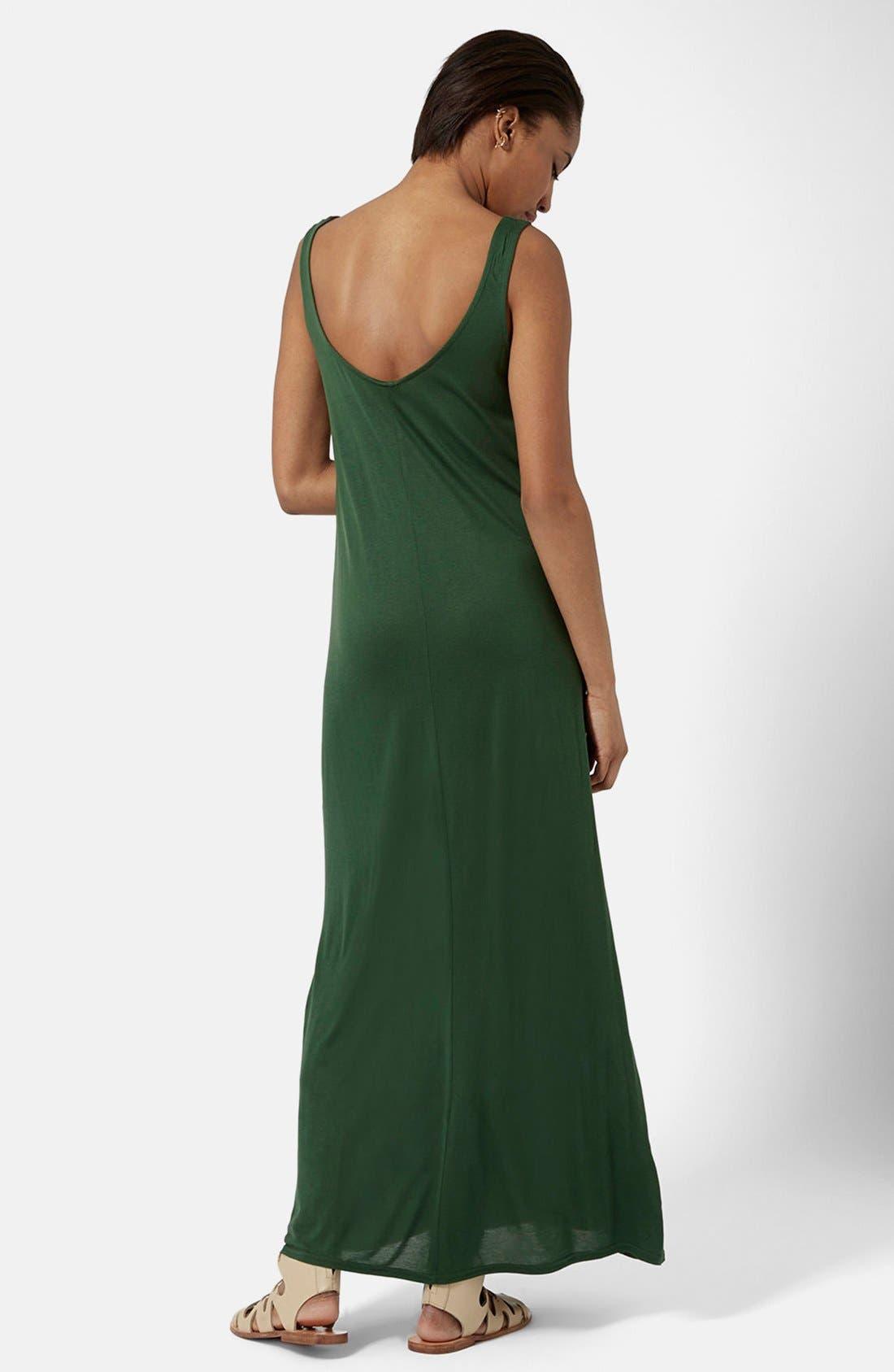 Alternate Image 2  - Topshop Knit Tank Maxi Dress