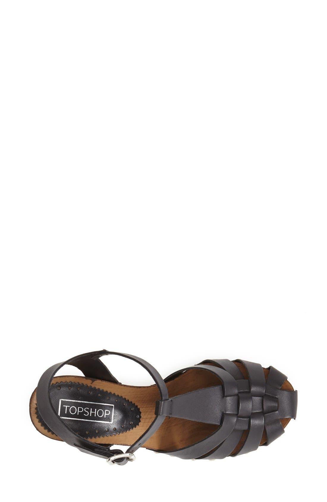 Alternate Image 3  - Topshop 'Nelly' Leather Platform Sandal (Women)