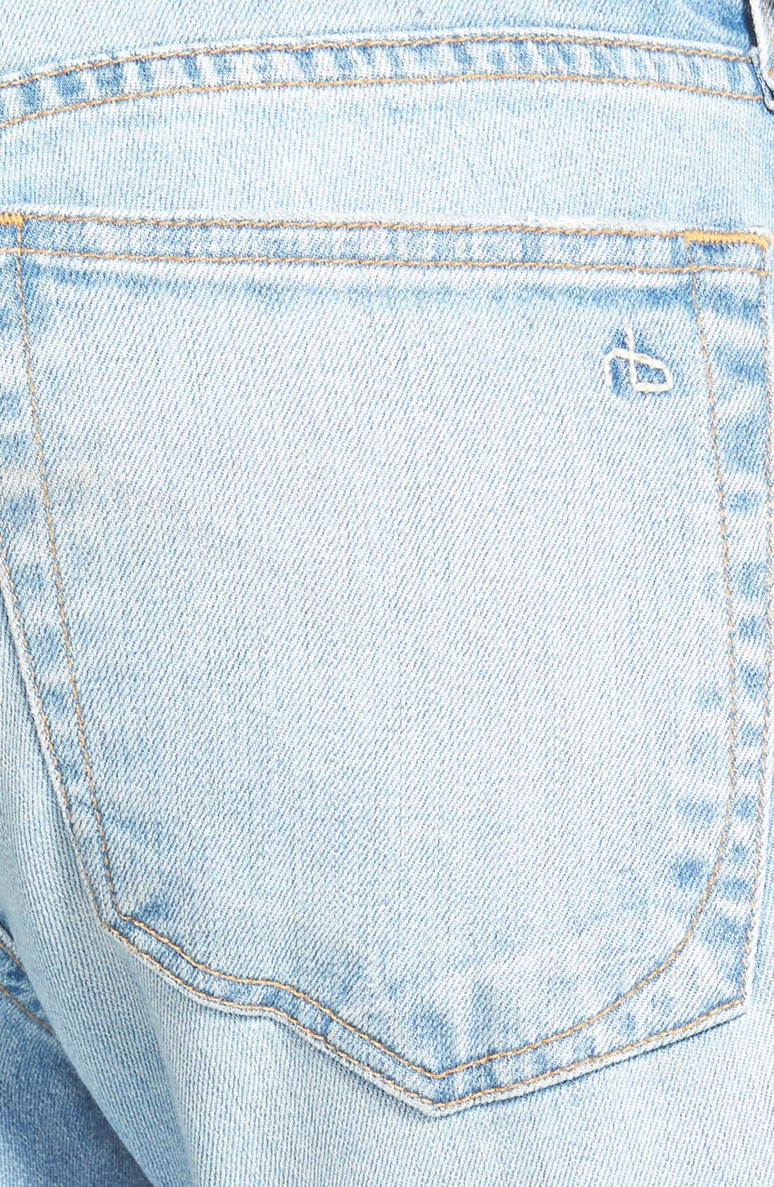Alternate Image 3  - rag & bone/JEAN 'Dre' Distressed Ankle Jeans (Abingdon)